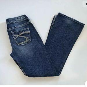 Silver Eden Bootcut Jeans 27 x 33